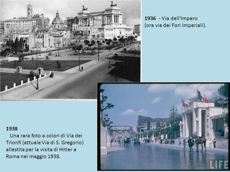 1932 - Allargamento di via del Teatro di Marcello.