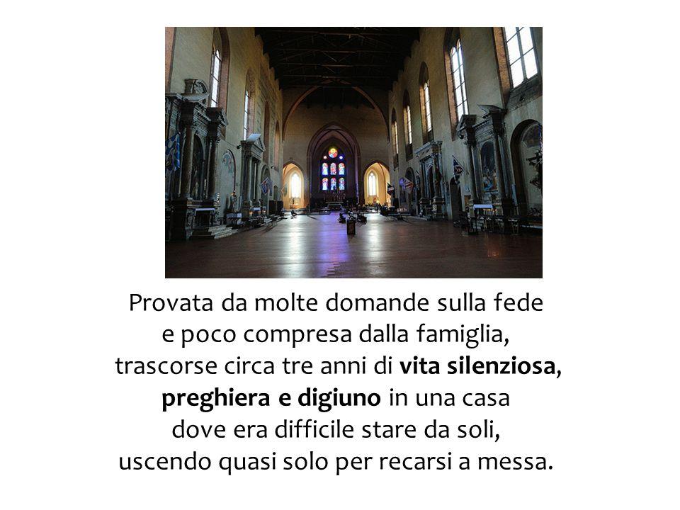 Come le altre Mantellate, frequentava la cappella delle volte di S.