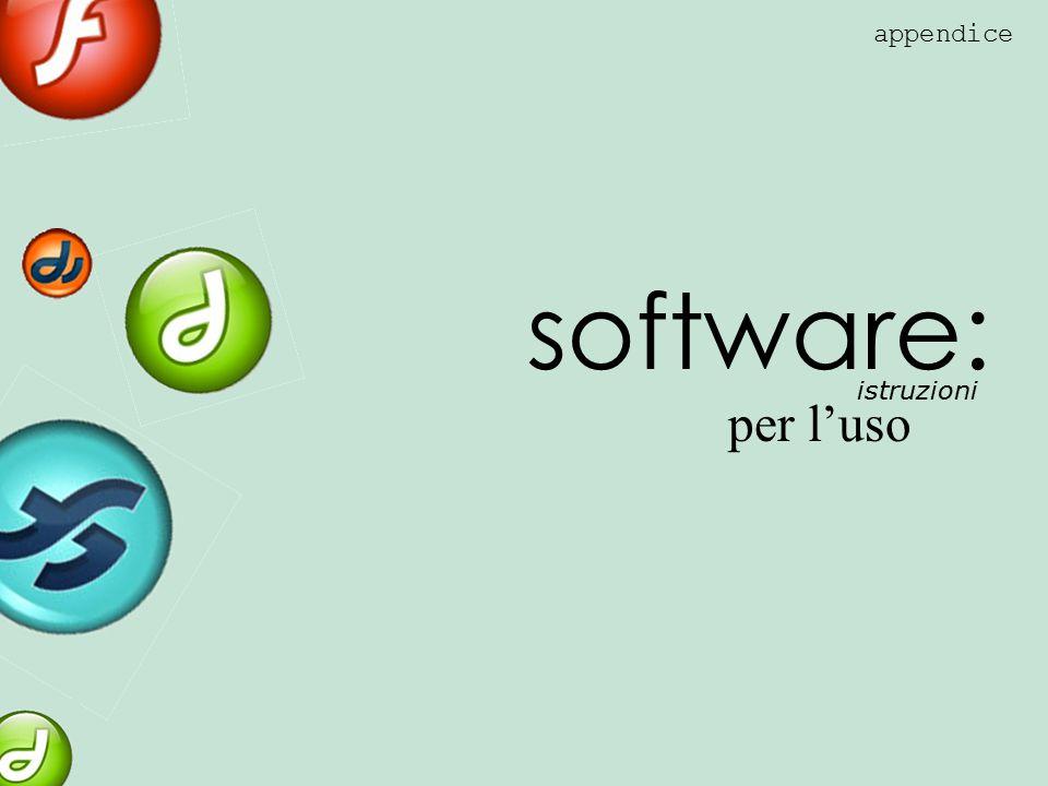 appendice software: istruzioni per l'uso