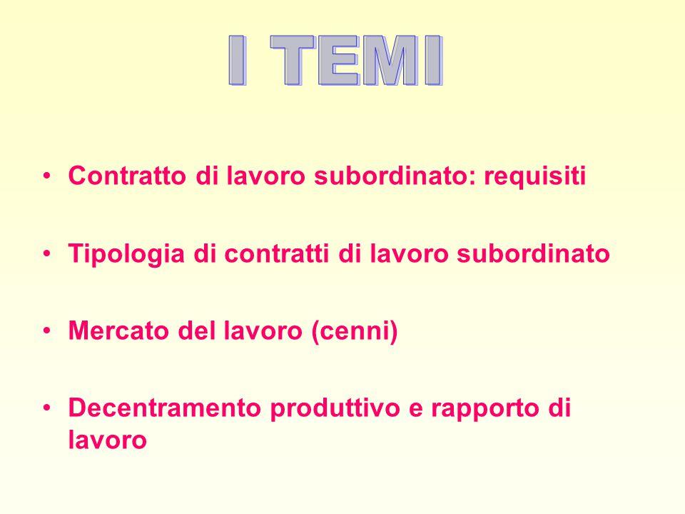 3 Contratto di lavoro subordinato (art.
