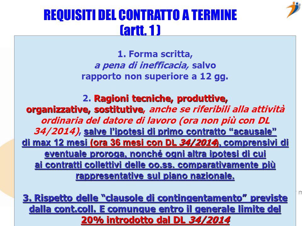 Fare clic per modificare lo stile del sottotitolo dello schema © ConfiniOnline – è vietata ogni riproduzione senza autorizzazione esplicita dell'autore DIVIETI DI CONTRATTO A TERMINE (artt.