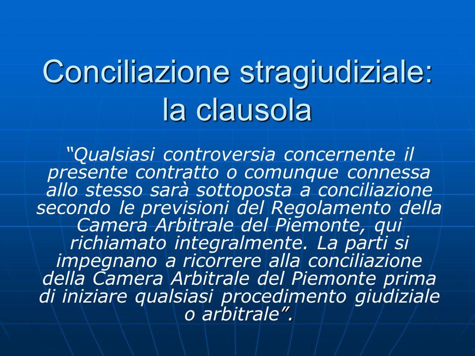 Conciliazione stragiudiziale: la clausola .