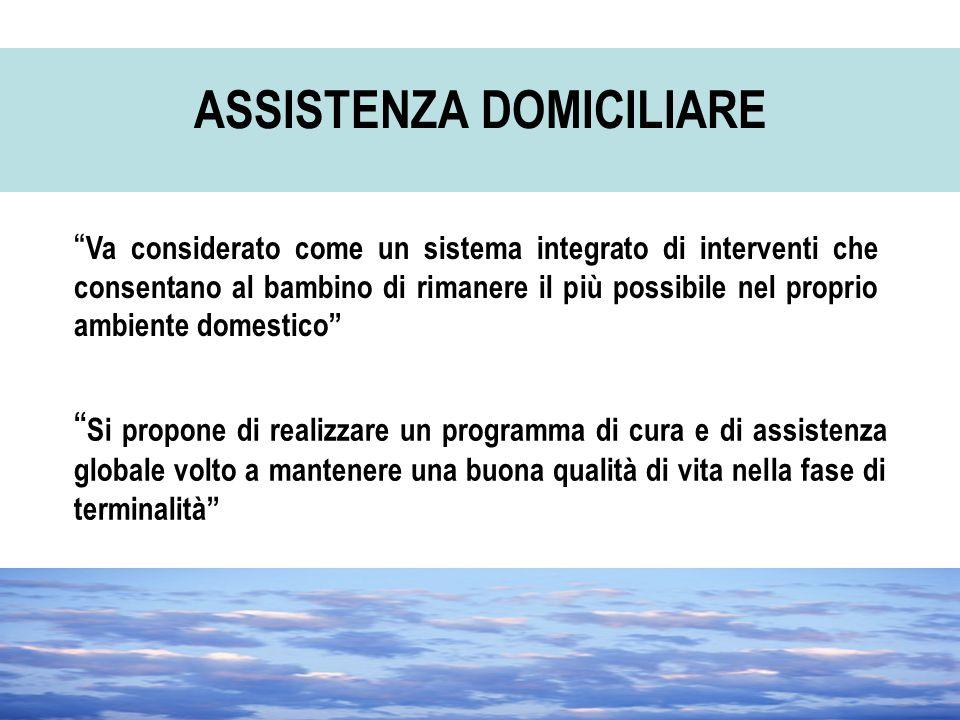 """"""" Si propone di realizzare un programma di cura e di assistenza globale volto a mantenere una buona qualità di vita nella fase di terminalità"""" ASSISTE"""