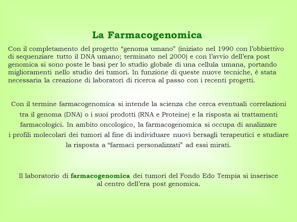 """La Farmacogenomica Con il completamento del progetto """"genoma umano"""" (iniziato nel 1990 con l'obbiettivo di sequenziare tutto il DNA umano; terminato n"""
