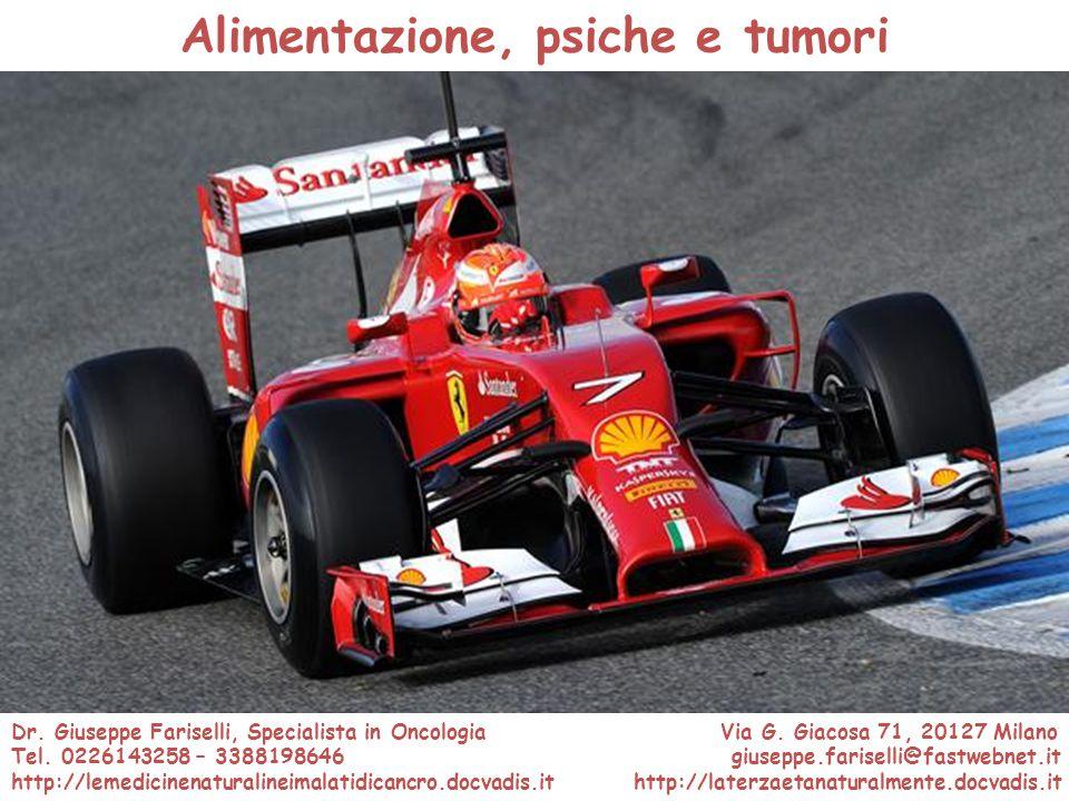 Alimentazione, psiche e tumori Porsche Carrera GT Salone dell'Automobile Ginevra 2000 Dr. Giuseppe Fariselli, Specialista in Oncologia Via G. Giacosa