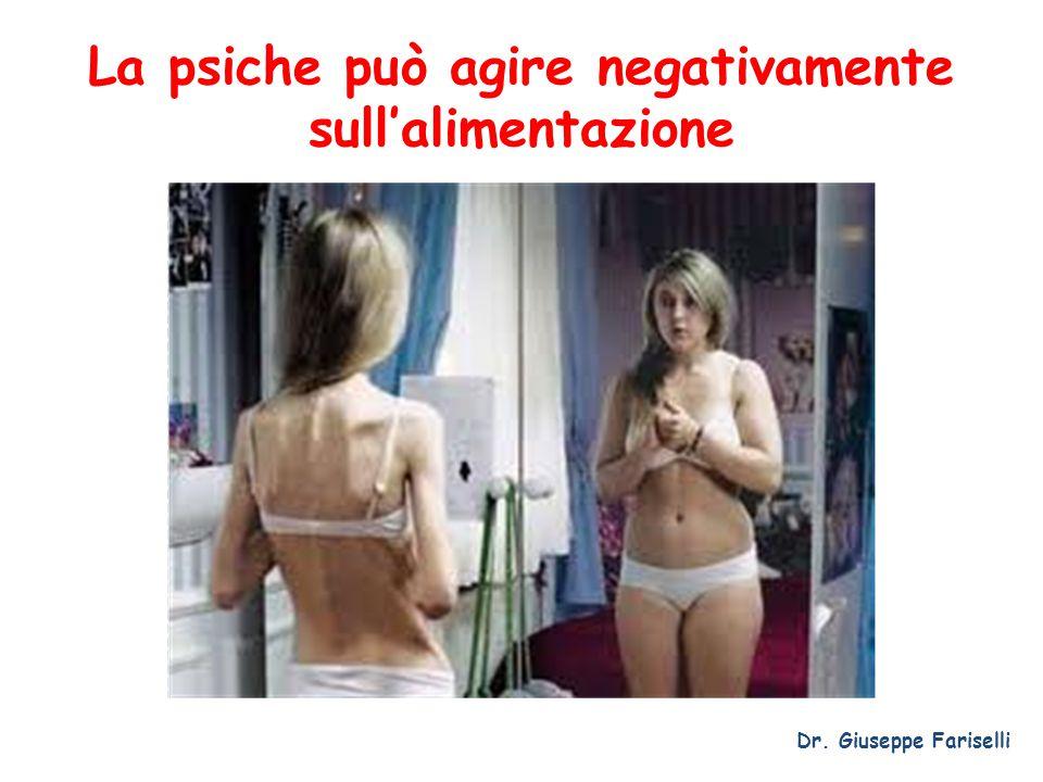 La psiche può agire negativamente sull'alimentazione Dr. Giuseppe Fariselli