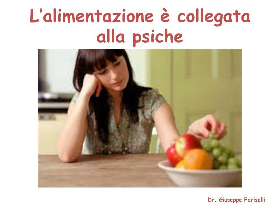 L'alimentazione è collegata alla psiche Dr. Giuseppe Fariselli