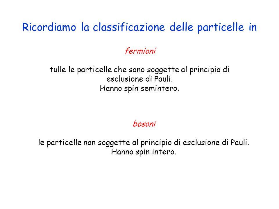 fermioni tulle le particelle che sono soggette al principio di esclusione di Pauli.