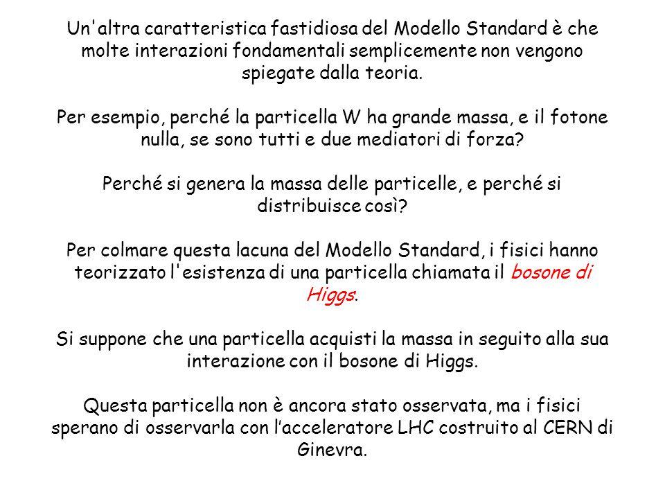 Un altra caratteristica fastidiosa del Modello Standard è che molte interazioni fondamentali semplicemente non vengono spiegate dalla teoria.