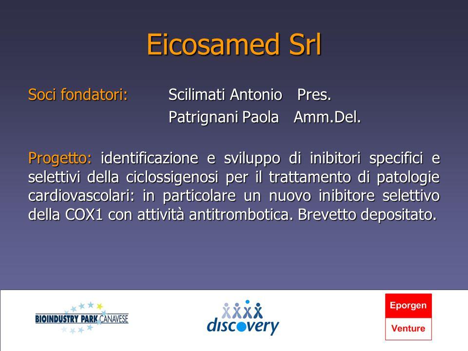 Eicosamed Srl Soci fondatori:Scilimati Antonio Pres.