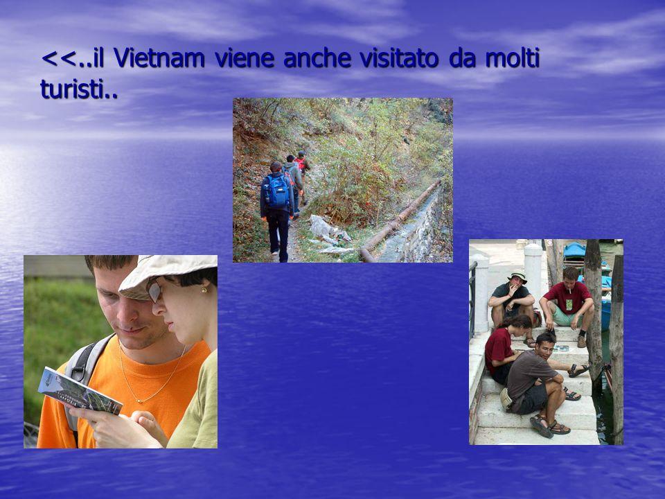 <<..il Vietnam viene anche visitato da molti turisti..