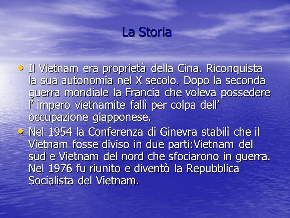 La Storia La Storia Il Vietnam era proprietà della Cina.