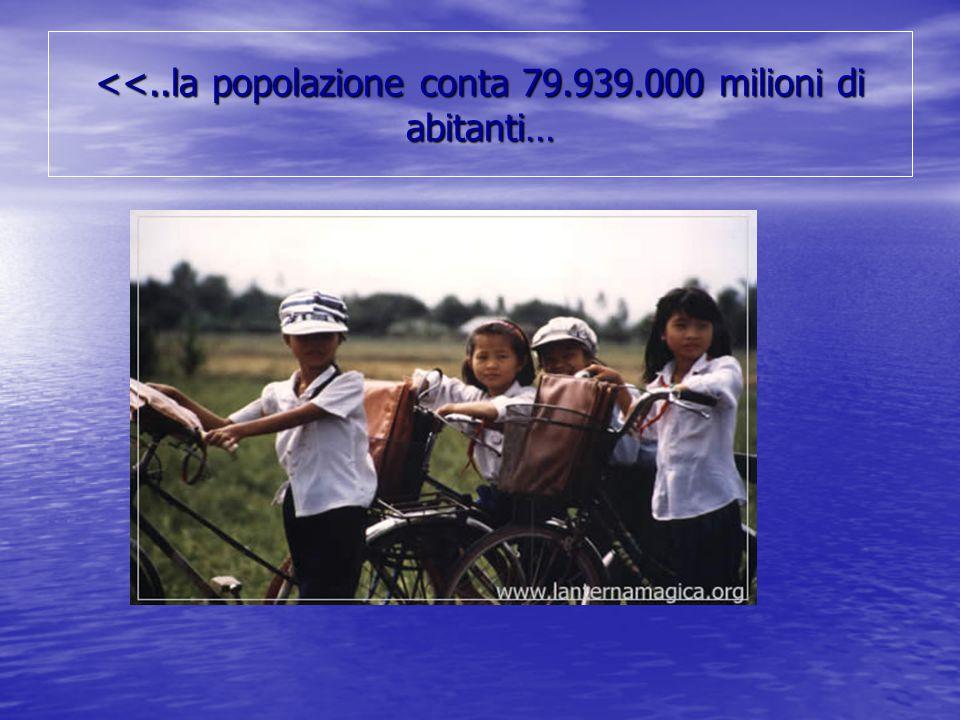 <<..la popolazione conta 79.939.000 milioni di abitanti…