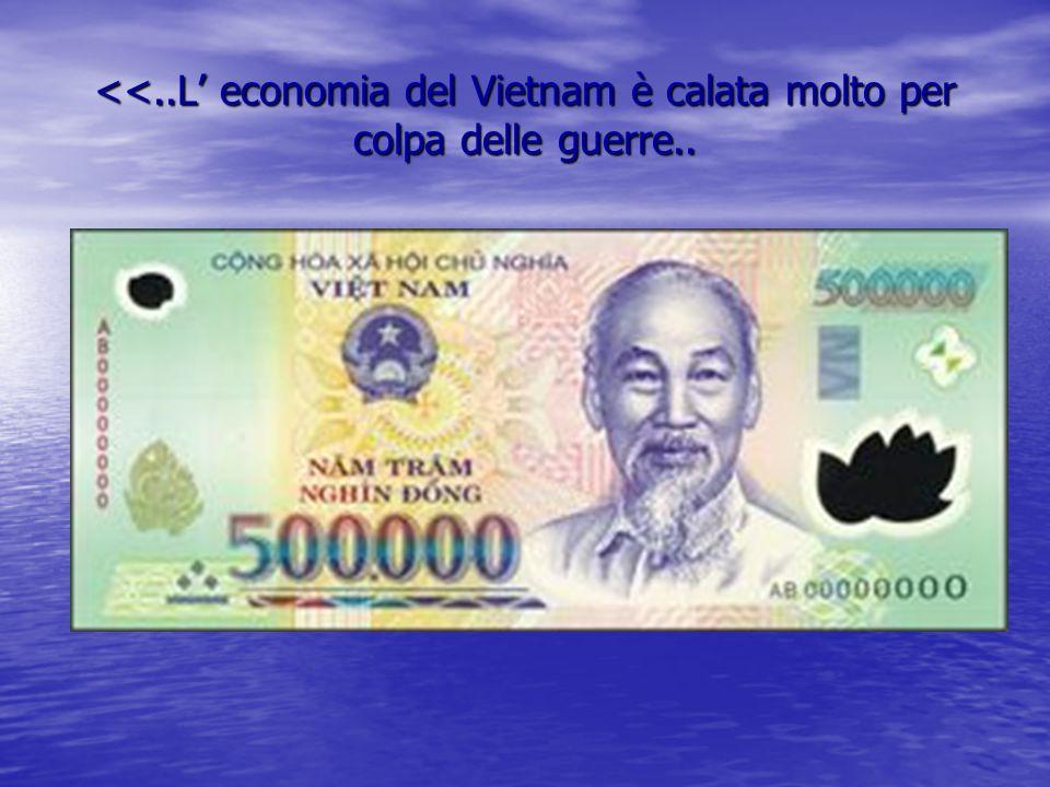 <<..L' economia del Vietnam è calata molto per colpa delle guerre..