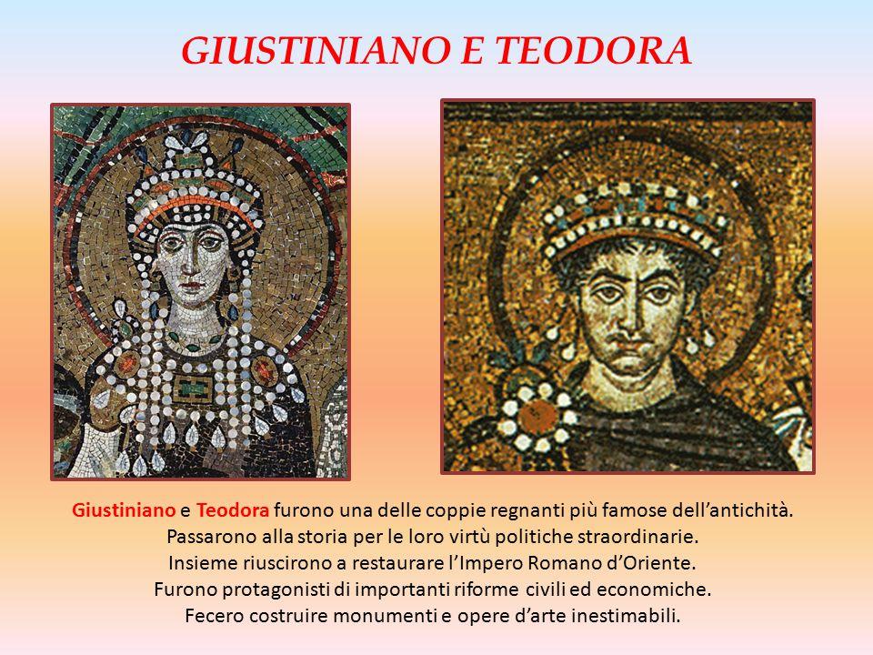 Giustiniano e Teodora furono una delle coppie regnanti più famose dell'antichità. Passarono alla storia per le loro virtù politiche straordinarie. Ins