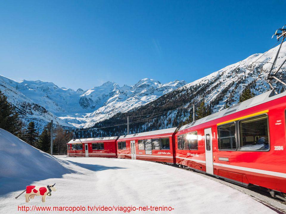 Cervino 4478 Monte Rosa 4637 m. Finsteraarhorn 4274 m. Bernina 4050 m. http://www.marcopolo.tv/video/viaggio-nel-trenino- rosso-del-bernina/