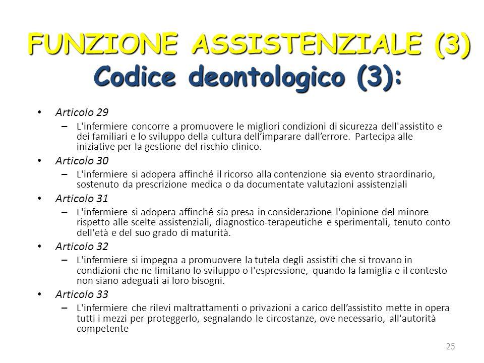 Articolo 29 – L'infermiere concorre a promuovere le migliori condizioni di sicurezza dell'assistito e dei familiari e lo sviluppo della cultura dell'i