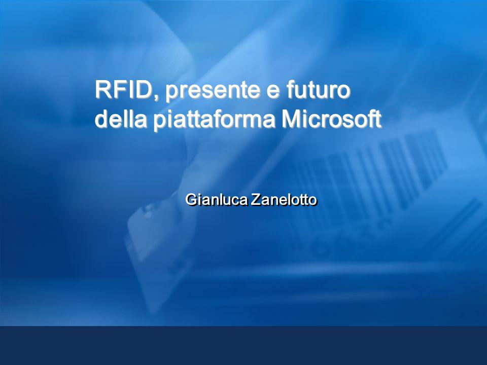 Gianluca Zanelotto RFID, presente e futuro della piattaforma Microsoft