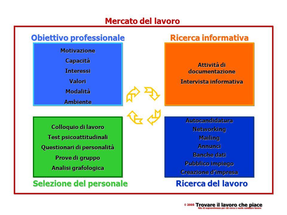 Tecniche di ricerca del lavoro 1.Autocandidatura 2.Networking 3.Mailing 4.Annunci di Lavoro 5.Banche Dati 6.Pubblico Impiego 7.Creazione d'impresa © 2005