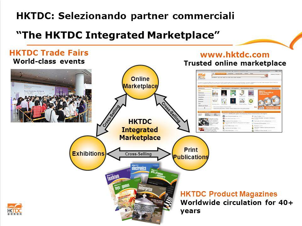hktdc.com – Il mercato online di fiducia -Presenti oltre 120,000 fornitori, compresi gli espositori delle fiere HKTDC e gli inserzionisti delle riviste di settore pubblicate da HKTDC -Utilizzato da oltre 800,000 compratori registrati, dei quali oltre il 70% compratori internazionali europei e statunitensi