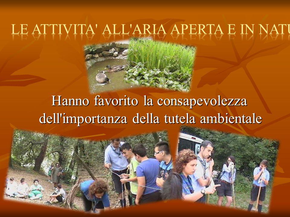 Hanno favorito la consapevolezza dell importanza della tutela ambientale Hanno favorito la consapevolezza dell importanza della tutela ambientale