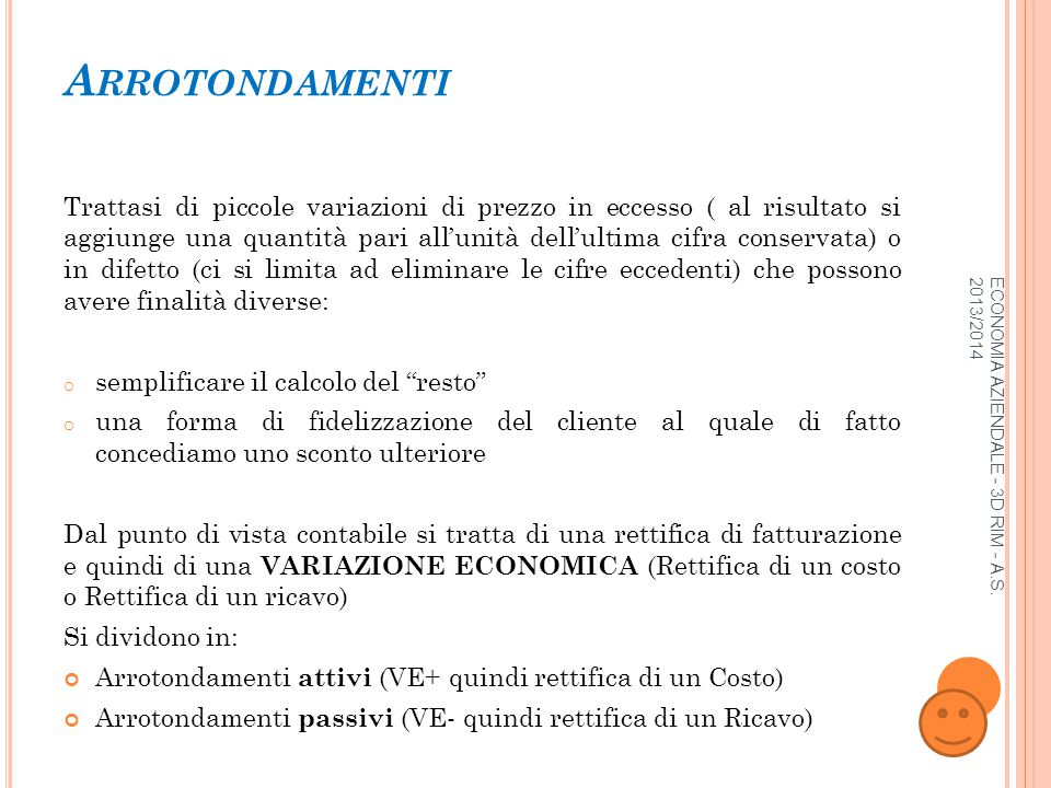 ECONOMIA AZIENDALE - 3D RIM - A.S.