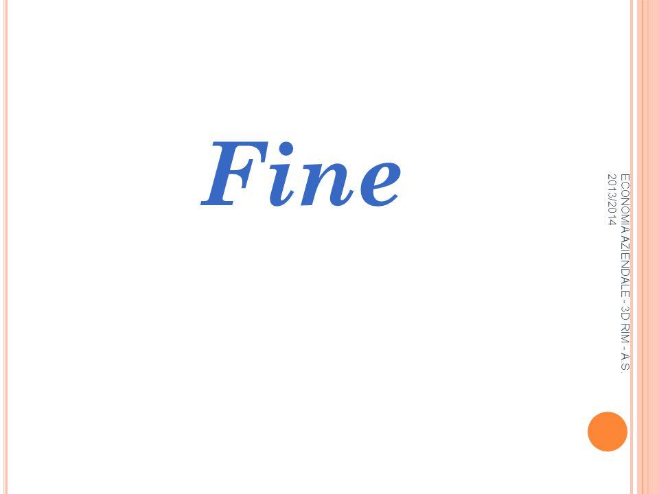 ECONOMIA AZIENDALE - 3D RIM - A.S. 2013/2014 Fine