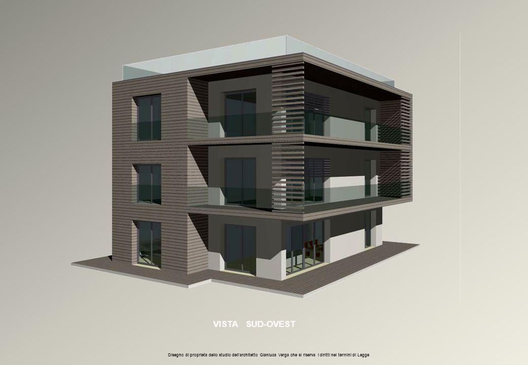 VISTA SUD-OVEST Disegno di proprietà dello studio dell'architetto Gianluca Verga che si riserva i diritti nei termini di Legge
