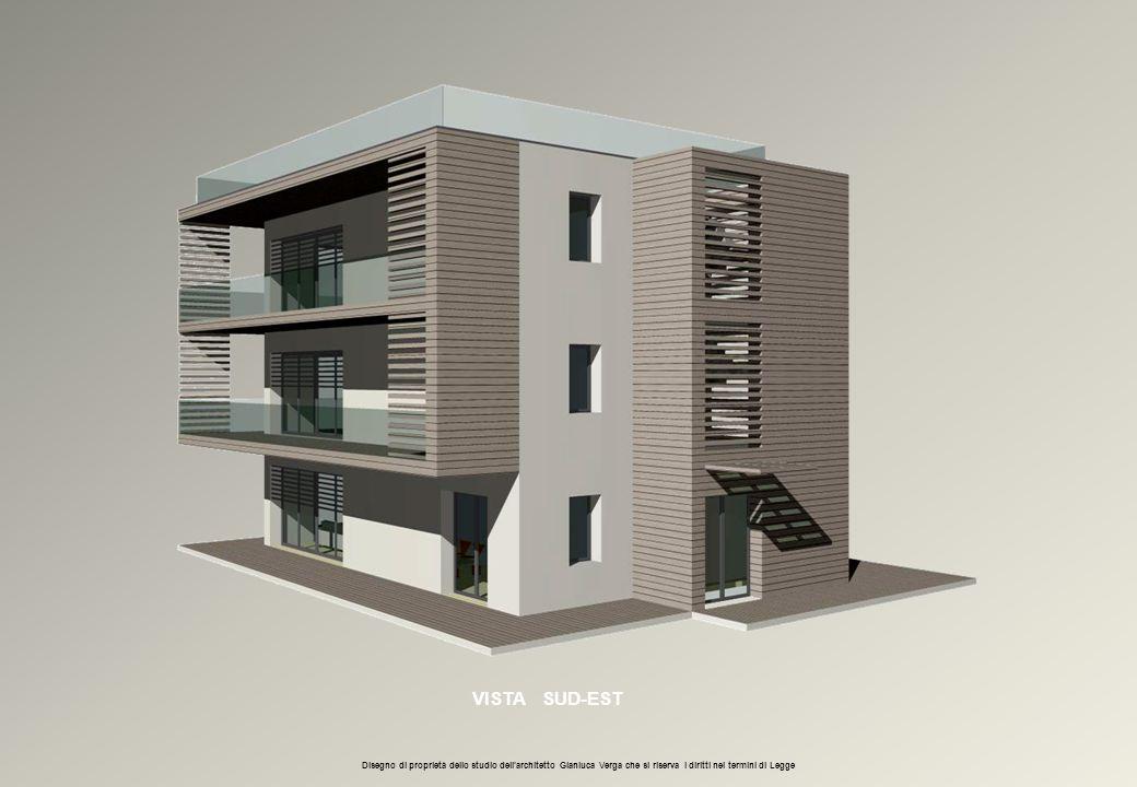 VISTA SUD-EST Disegno di proprietà dello studio dell'architetto Gianluca Verga che si riserva i diritti nei termini di Legge