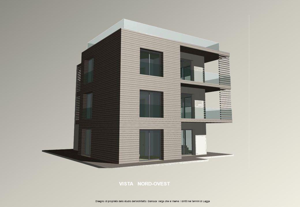 VISTA NORD-OVEST Disegno di proprietà dello studio dell'architetto Gianluca Verga che si riserva i diritti nei termini di Legge