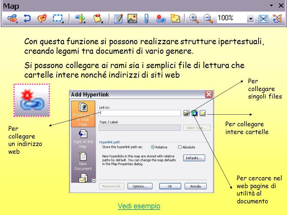 Con questa funzione si possono realizzare strutture ipertestuali, creando legami tra documenti di vario genere.