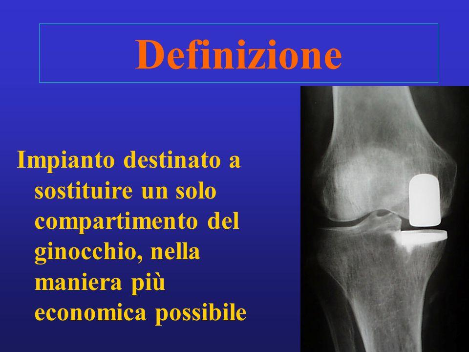 3 Definizione Impianto destinato a sostituire un solo compartimento del ginocchio, nella maniera più economica possibile