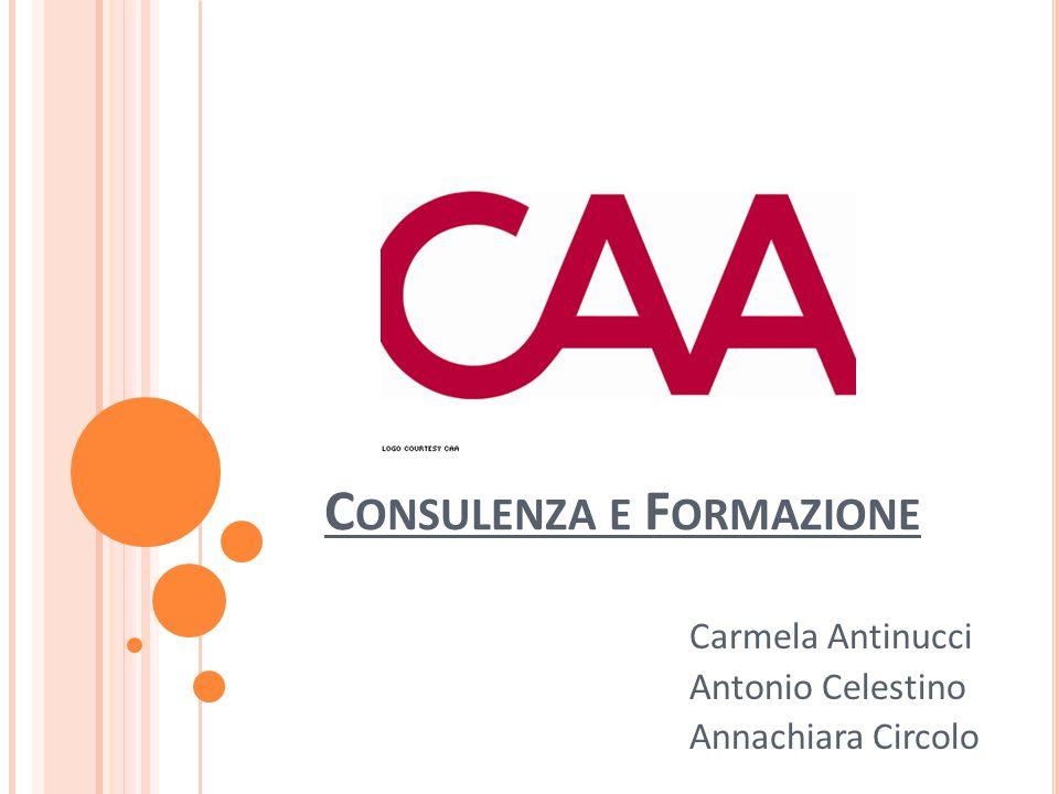 C ONSULENZA E F ORMAZIONE Carmela Antinucci Antonio Celestino Annachiara Circolo