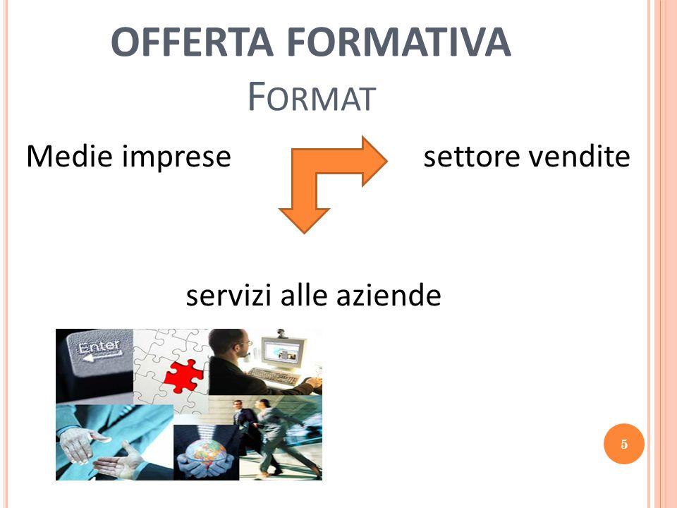 OFFERTA FORMATIVA F ORMAT Medie imprese settore vendite servizi alle aziende 5