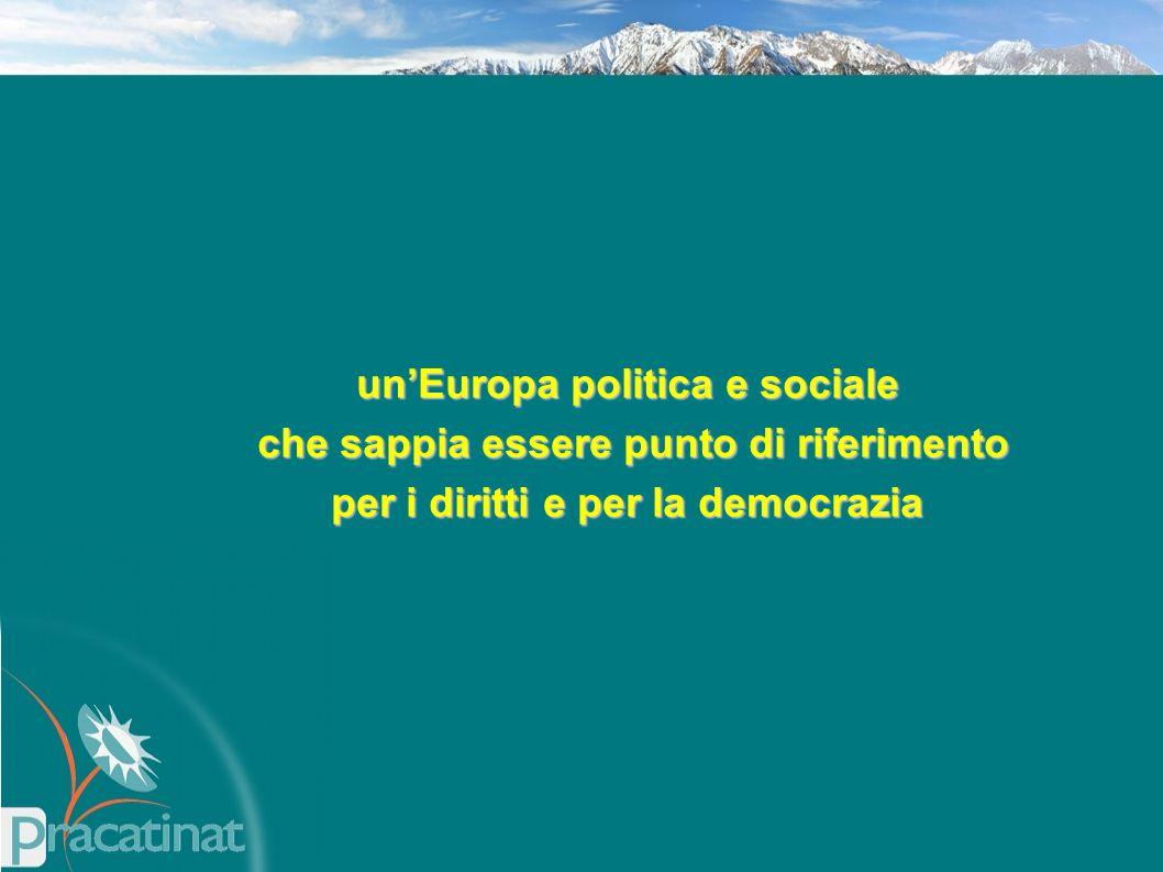 un'Europa politica e sociale che sappia essere punto di riferimento che sappia essere punto di riferimento per i diritti e per la democrazia