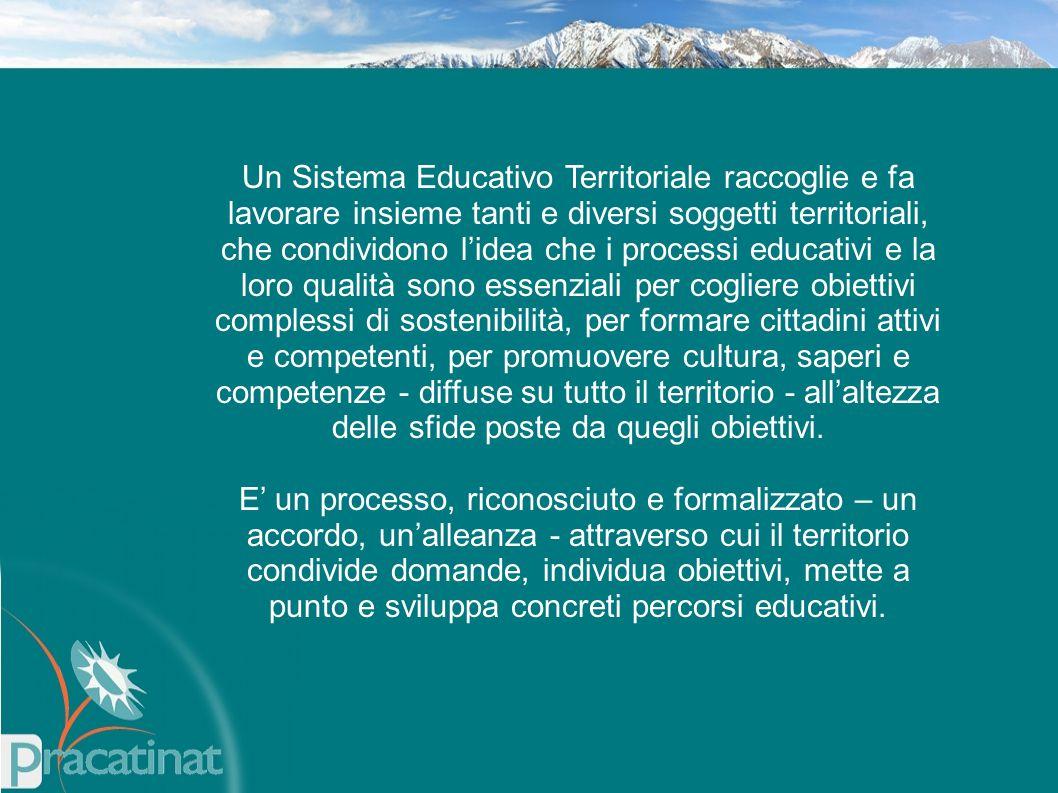 Un Sistema Educativo Territoriale raccoglie e fa lavorare insieme tanti e diversi soggetti territoriali, che condividono l'idea che i processi educati