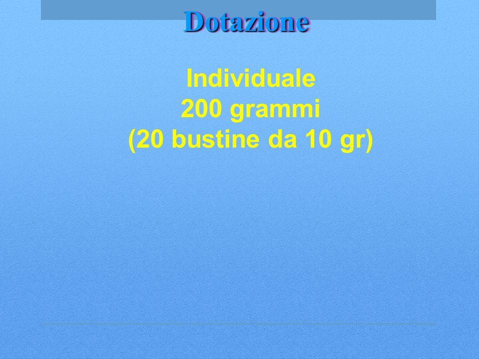 DotazioneDotazione Individuale 200 grammi (20 bustine da 10 gr)