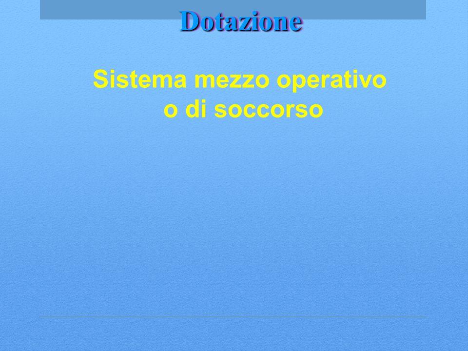 DotazioneDotazione Sistema mezzo operativo o di soccorso