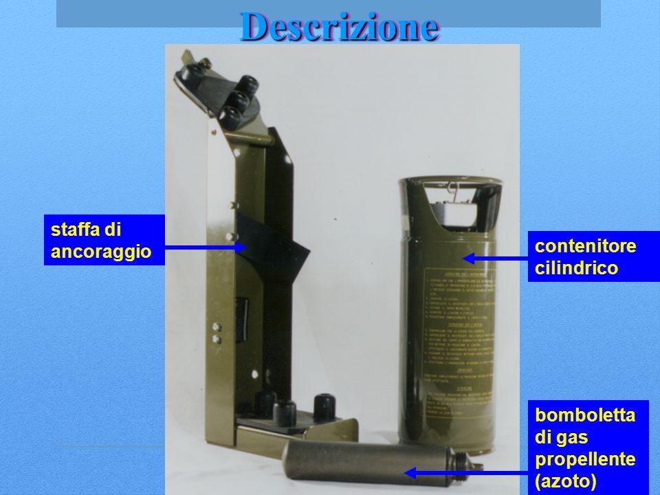 DescrizioneDescrizione staffa di ancoraggio contenitore cilindrico bomboletta di gas propellente (azoto)