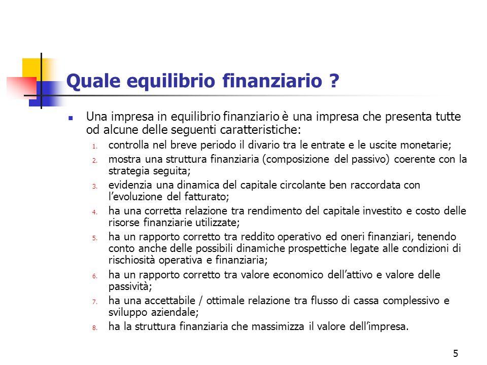 36 [7] Casi di disequilibrio E' necessario concludere chiarendo in quali casi, adottando questa logica, si definisce una situazione di disequilibrio finanziario.