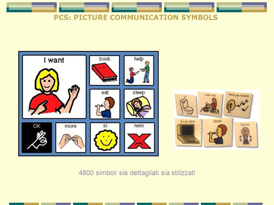 PCS: PICTURE COMMUNICATION SYMBOLS 4800 simboli sia dettagliati sia stilizzati
