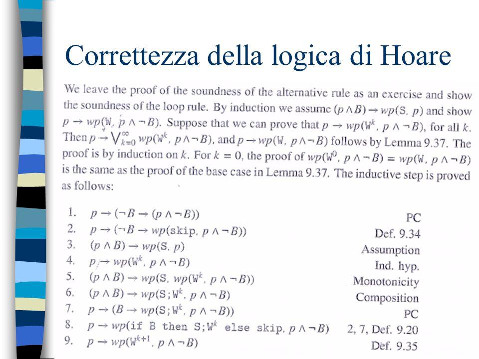 4/5/2015 19 Correttezza della logica di Hoare