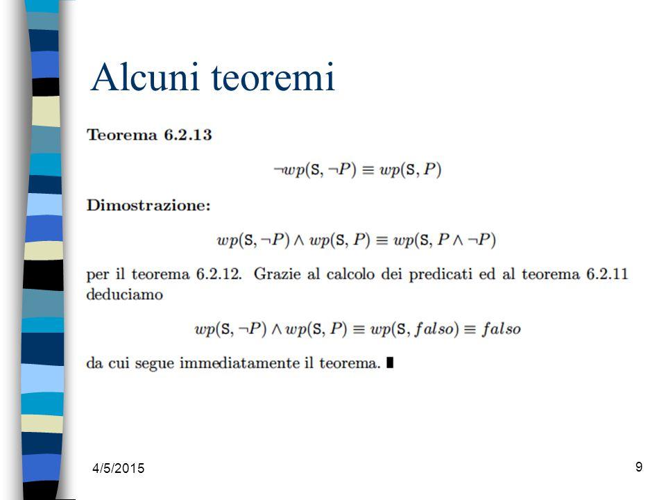 4/5/2015 9 Alcuni teoremi