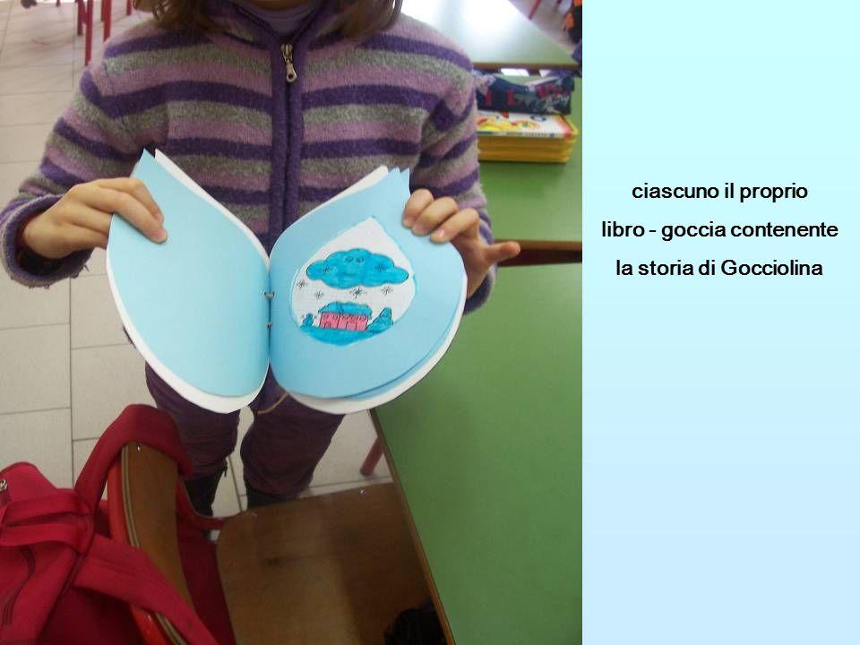 ciascuno il proprio libro - goccia contenente la storia di Gocciolina