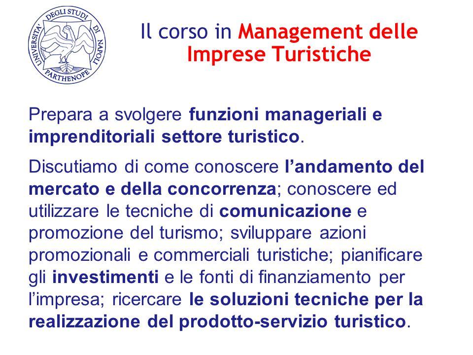 Il corso in Management delle Imprese Turistiche Prepara a svolgere funzioni manageriali e imprenditoriali settore turistico. Discutiamo di come conosc