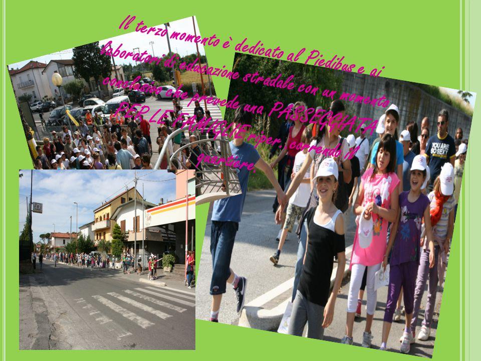 Il terzo momento è dedicato al Piedibus e ai laboratori di educazione stradale con un momento conclusivo che prevede una PASSEGGIATA PER LE FAMIGLIE riper..correndo il quartiere.