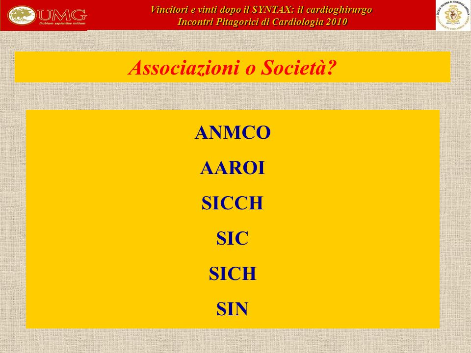 Associazioni o Società.