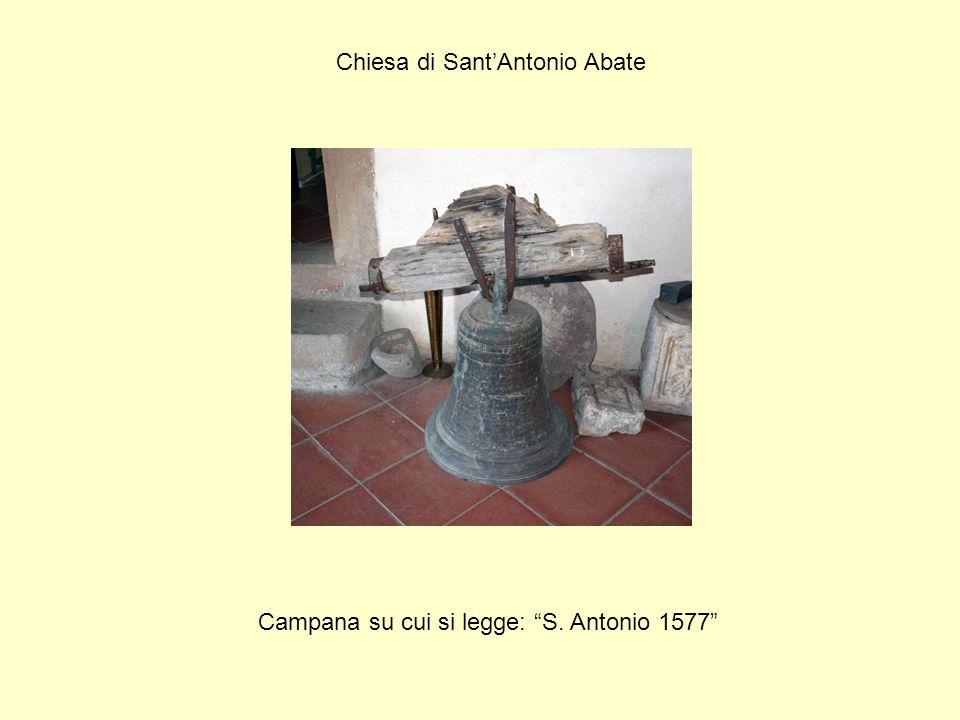 """Chiesa di Sant'Antonio Abate Campana su cui si legge: """"S. Antonio 1577"""""""