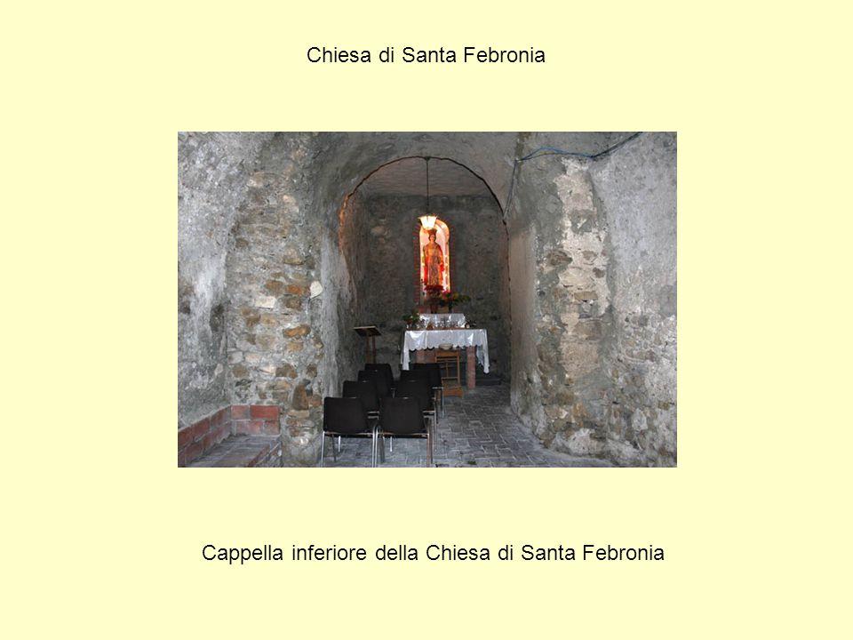 Chiesa di Santa Febronia Cappella inferiore della Chiesa di Santa Febronia
