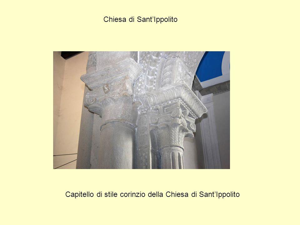 Chiesa di Sant'Ippolito Capitello di stile corinzio della Chiesa di Sant'Ippolito